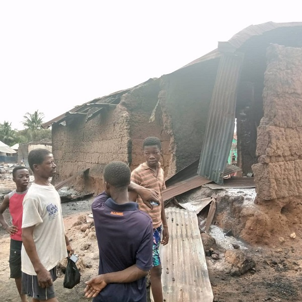 The fire explosion has rendered many people homeless