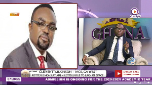 Ga West MCE, Mr Clement Wilkinson (left) spoke on Atinka TV