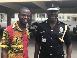 Manasseh Azure Awuni with IGP Dampare