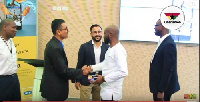 GM, consumer marketing, MTN Noel Kojo-Ganson (2nd right) shakes hands with FERO mobile officials