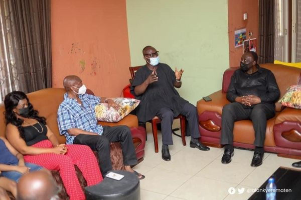 Alan John Kwadwo Kyerematen and his team at Kweku Baako's residence