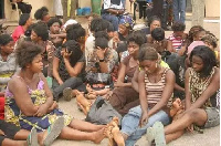 File Image of trafficked persons