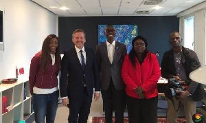 Danish FM Andrews Samuelsen (2nd L) promises partnership beyond aid