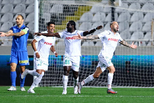 Ernest Asante netted a brace in the win over Anorthosis
