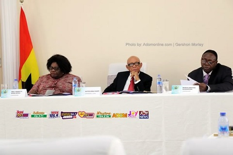 Members of the Short Commission; Prof. Henrietta Mensa-Bonsu, Emile Short and Patrick Acheampong