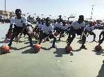Participants at the Pops Mensah-Bonsu Basketball Camp