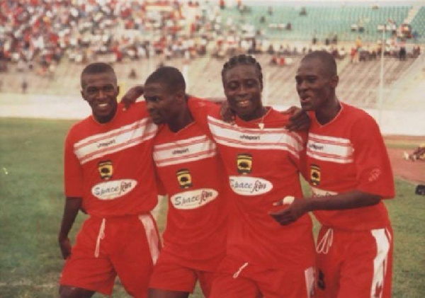 Kotoko scored first against Hearts in the final match of the 2004 Confederations Cup
