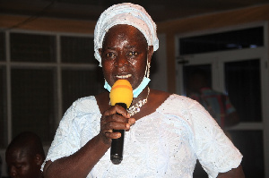 The Chairperson Of The Association, Ramatu Sulemana Speaking To GhanaWeb