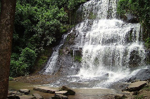 The Kintampo Waterfalls was closed down for renovation in 2017