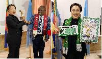 Actress Tonto Dikeh receives her 'UN ambassadorial' items