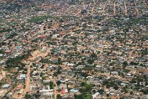 Aerial View Of Part Of Accra Capital Of Ghana West Africa A7YXE6