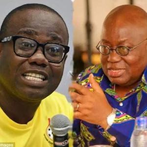 President Nana Addo Dankwa Akufo-Addo (Right) and Kwesi Nyantakyi Ghana Football Association Preside