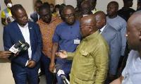 President Akufo-Addo toured the Kotoka International Airport on Wednesday