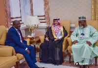 Dr Mahamudu Bawumia interacting with some global investors at FII summit