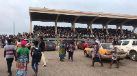 The Black Star Square was almost occupied with frustrated parents and students