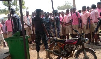 The violent confrontation was over a decision by the school authorities to eject encroachers