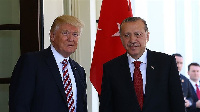 Recep Tayyip Erdogan and his US counterpart Donald Trump