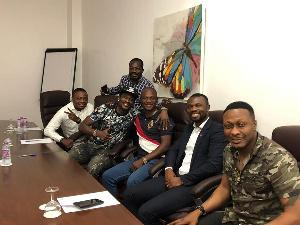 Asamoah Gyan meets Kwesi Appiah