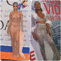 Efia Odo recreated Rihanna's look for the 2019 4syte  TV Music Video Awards