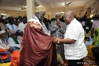 Nana Akufo-Addo interacting with Tafo Zongo Chiefs