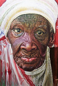 Kwesi Botchway aims to depict portraits of the faces of children, adults and the old