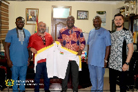 Isaac Kwame Asiamah with officials from Fitcom