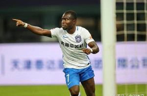 Frank Acheampong who is the captain of Tianjin Teda