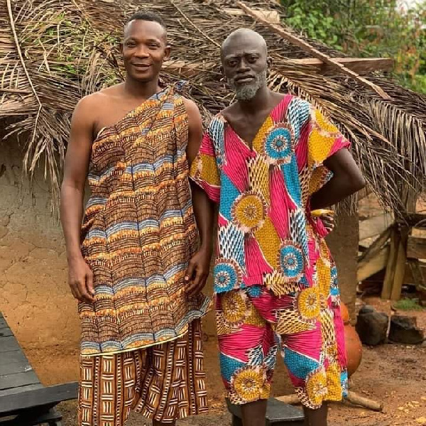 John Paintsil with actor Lil Win