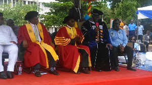 Professor Elvis Nyarko, the Vice-Chancellor of RMU with management team