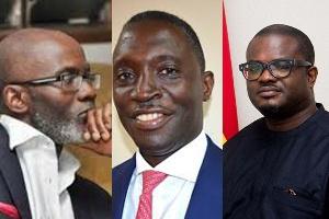 Gabby Asare-Otchere Darko, Kofi-Osafo-Maafo and Charles Adu Boahene (L-R)