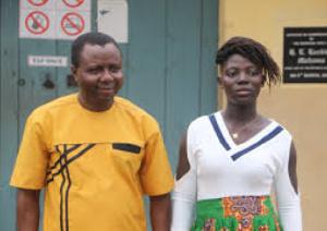 Ibrahim Oppong Kwarteng with Joyce Barnes