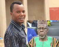 Mr Rockson Ayine Bukari, Minister of State and Edward Adeti