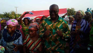 Ato Forson dancing with some of the widows