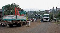 Mpondwe crossing at the Uganda- DR Congo border ( PHOTO | AFP)