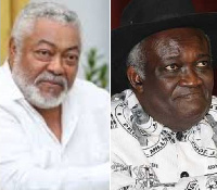 Jerry John Rawlings and Prof Kwamena Ahwoi