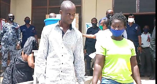 The suspects, Mavis Brepor and Patrick Asare