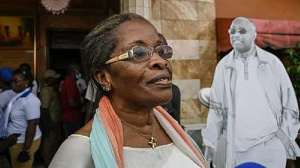 Jeannette Koudou, Laurent Gbagbo's sister, has just returned to Abidjan from exile