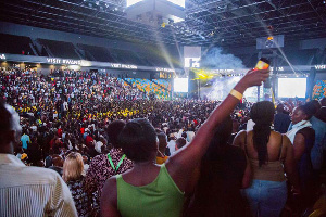File photo of some Ghanaians at a concert