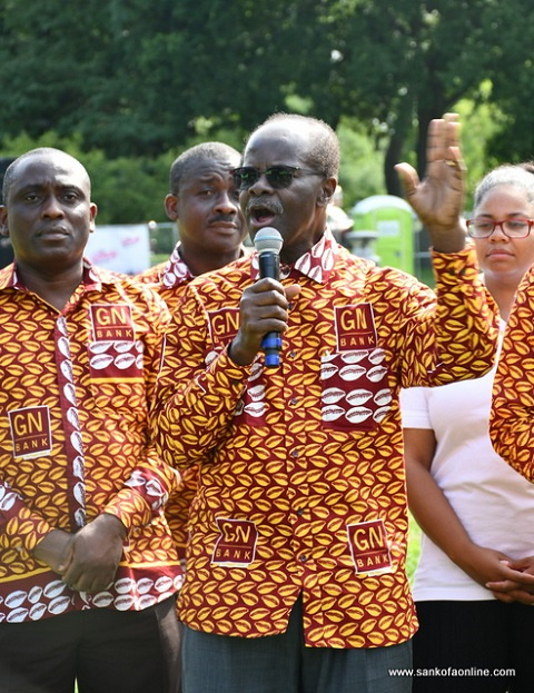 Dr. Paa Kwesi Nduom addressing the crowd at Ghanafest