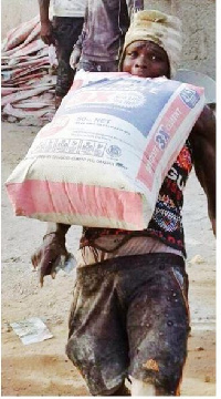 the man with bag of cement