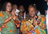 File photo: President John Mahama installed as Nkosuoo Hene