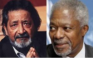 V.S. Naipaul and Kofi Annan
