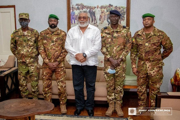 Rawlings advises Malian military leader