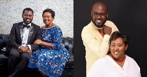 Abeiku Santana's wife Genevieve Benyiwah Aggrey is a year older below