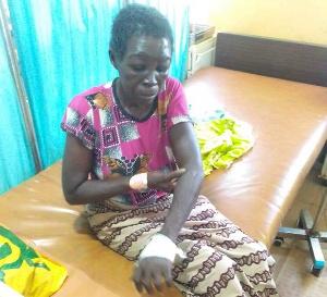 Abubakari Ayishatu was attacked by the angry mob in Karaga