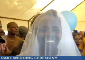 The wedding was held at a hotel in Kenya. Image via YouTube/KBC Channel 1