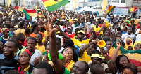 Some happy Ghanaians celebrating Independence Day
