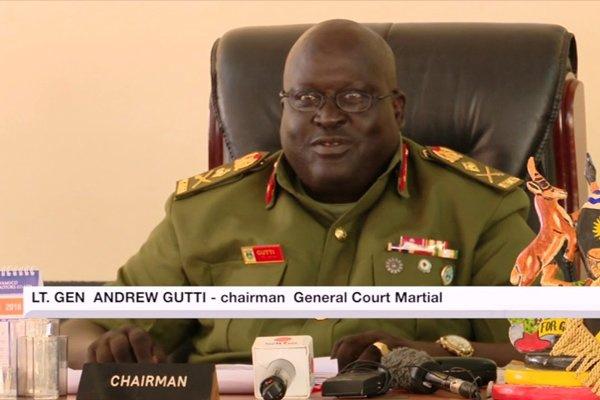 General Court Martial Chairperson, Lt. Gen Andrew Gutti