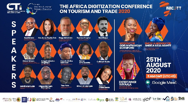 The Africa Digitization Conference On Tourism & Trade will be held on on Tuesday, August 25, 2020