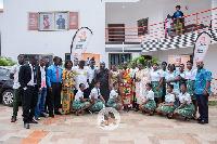 The fund was presented to Headmaster, Stephen Aglah and Chief of Akwamu Adumasa, Nana Ansah Kwao IV